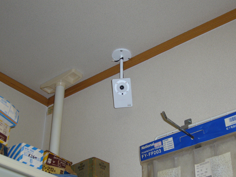 ネットワークカメラ設置